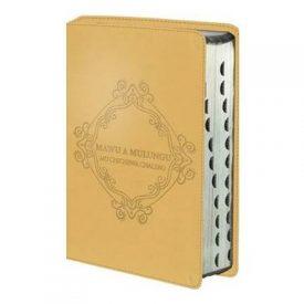 Mawu a Mulungu: Mu Chichewa Chalero : Chichewa Bible luxury leather look gold